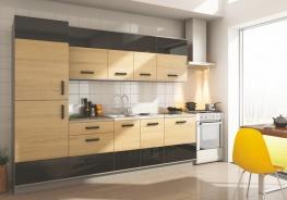**Kuchyně SAVANNA 260S sonoma/černá