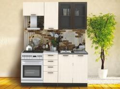 *Kuchyně RIVIERA 180 wenge/dub bělený