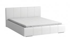 Čalouněná postel CAVALLI 140x200 bílá