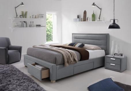 50da200faa70 Čalouněná postel INES 160x200 šedá