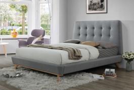 Čalouněná postel DONA 160x200 šedá