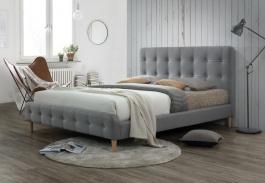 Čalouněná postel ALICE 160x200 šedá