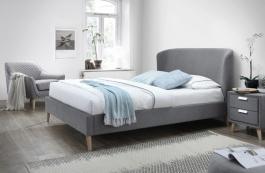 Čalouněná postel ALEXIS 160x200 šedá