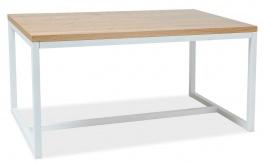 Jídelní stůl LORAS A 150x90 dub masiv/bílá