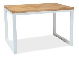 Jídelní stůl LORAS II 120x80 dub masiv/bílá