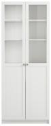 Vysoká skříň Aneta IV s dvířky - bílá