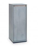 Policová skříňka Lincoln - dub/dub modrý