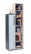 Moderní knihovna Lincoln - dub/dub modrý/tmavě modrá