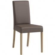 Jídelní židle Nicol - imitace kůže/masiv