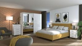 Moderní ložnice Auri I - dub artisan/bílá