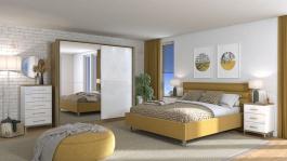 Moderní ložnice Auri II - dub artisan/bílá