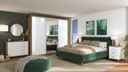 Moderní ložnice Auri III - dub artisan/bílá
