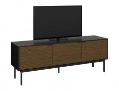 Televizní stolek Dalton - černý/hnědý