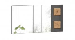 Zrcadlo široké Markus - šedý lesk/dub zlatý