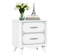 Zásuvkový noční stolek Lily - bílá