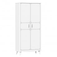Dvoudveřová šatní skříň Lily - bílá