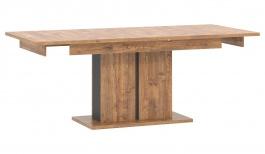 Jídelní stůl s rozkládáním Klement - dub april/černý