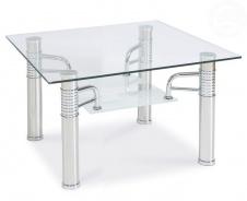 Konferenční stolek Reni - kov/sklo