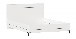 Postel bez roštu Caroline 140x200cm - bílá/černá
