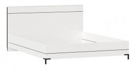 Postel bez roštu Caroline 160x200cm - bílá/černá