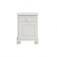Noční stolek Richie 1S1D - bílý