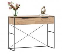 Toaletní stolek Caroline - dub zlatý/černá