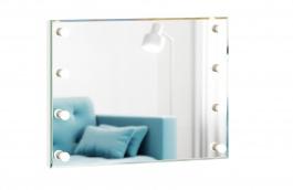 Zrcadlo s osvětlením Caroline - bílý rám