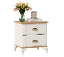 Noční stolek Amfora - alabastr/dub zlatý