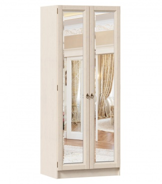 Zrcadlová šatní skříň Annie 2D (hl.61cm) - dub provence