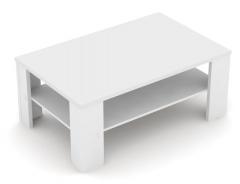 Konferenční stolek REA 3 - bílá