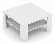 Čtvercový konferenční stolek REA 5 - bílá