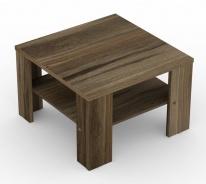 Čtvercový konferenční stolek REA 4 - ořech rockpile