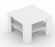 Čtvercový konferenční stolek REA 4 - bílá