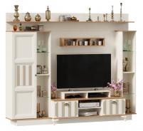 Televizní stěna Amfora - alabastr/dub zlatý