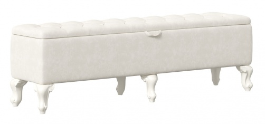 Čalouněný taburet s úložným prostorem Margaret - champagne/alabastr
