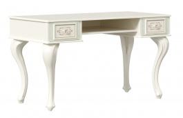 Toaletní stolek Margaret - alabastr/zelená