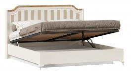 Postel s úložným prostorem Amfora 180x200cm - alabastr/dub zlatý