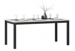 Jídelní stůl Robin - dub craft bílý/černá
