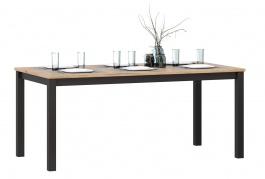 Jídelní stůl Robin - dub zlatý/černá