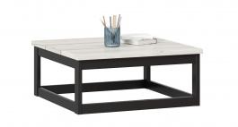 Konferenční stolek Robin 70cm - dub craft bílý/černá