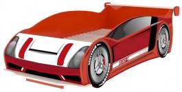 Dětská postel auto Racer 90x200cm - červená