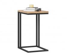 Odkládací stolek Robin - dub zlatý/černá