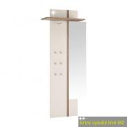 Věšákový panel se zrcadlem, bílý extra vysoký lesk, LYNATET TYP 115