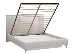 Čalouněná postel úložným prostorem 160x200cm Melody - šedá