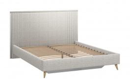 Čalouněná postel s roštem 160x200cm Melody - šedá