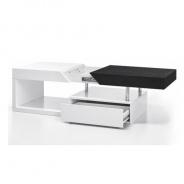 Konferenční stolek, bílý lesk / černý, MELIDA