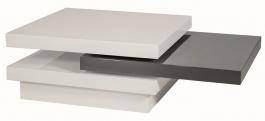 Konferenční stolek TRISTA rozkládací bílo-šedý