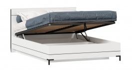 Postel s úložným prostorem Caroline 140x200cm - bílá/černá