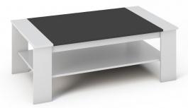 Konferenční stolek BERN bílá/černá