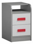 Kontejner k prac. stolu GYT 9 antracit/bílá/červená